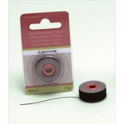 Svilena vrvica za perle 0,2mm x 37m, črna