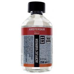Amsterdam Zaščitni lak za akril 250ml Visoki sijaj 113
