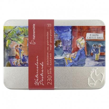 Kartice za akvarel v kovinski škatli 10,5x14,8cm 230g. 30 kosov