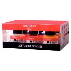 Amsterdam Akrilni tuš Osnovne barve 6x30ml