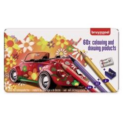 Bruynzeel komplet 60 barvic svinčnikov in dodatkov Beetle
