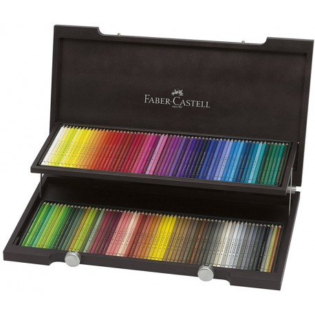 Barvni svinčniki Faber Castell Polychromos Lesena škatla 120 kosov