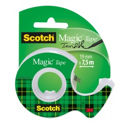 Scotch lepilni trak Magic 19mm x 7,5m transparent na stojalcu
