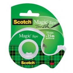 Scotch lepilni trak Magic 19mm x 7,5m transparent na stojalcu