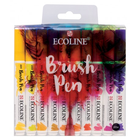 Ecoline Brushpen marker oblika čopiča set 20