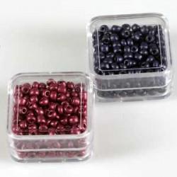 Metalne perle 2,6mm 2x8g. bakrene-Temno vijola