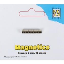 Magneti mini 5mm x 2mm, 12 kosov