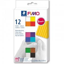 Fimo soft Osnovne barve 12 polovičnih barv