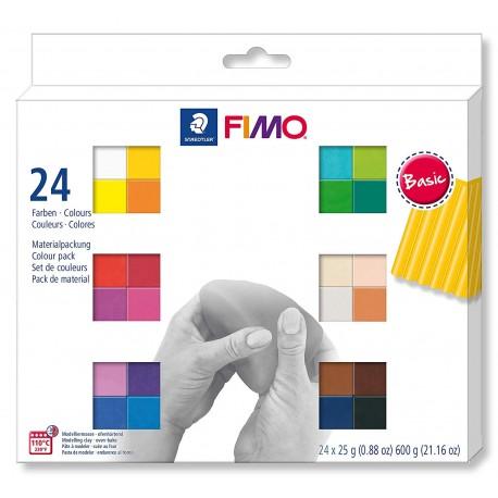 Fimo soft komplet 24 polovičnih blokov