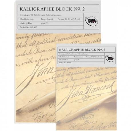 Blok za kaligrafijo s črtami A4 95g. 50 listov