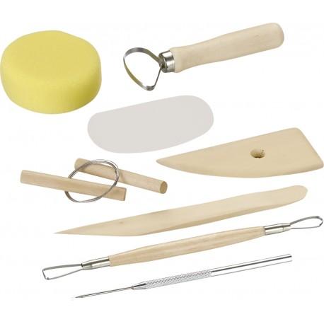 Modelirke za glino in dodatki 8 kosov
