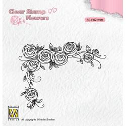 Nellies štampiljka Kotne rože 80 x 62mm