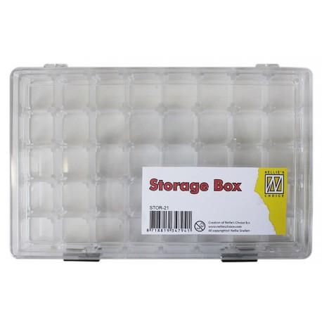Akrilna škatla 21 prostorčkov velikost 190 x 120 x 40mm