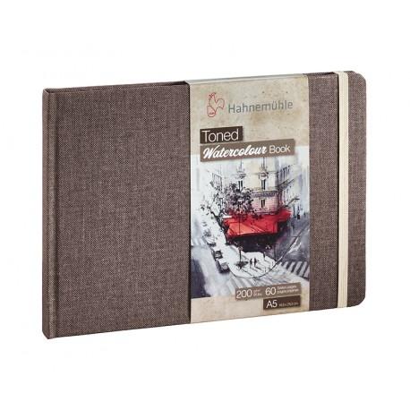 Hahnemuhle toniran akvarel papir blok 200g. 30 listov Kraft Rjav