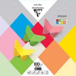 Origami komplet 20x20cm, 10b. po 10 listov 100l.