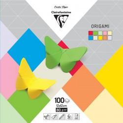 Origami komplet 12x12cm, 10b. po 10 listov 100l.
