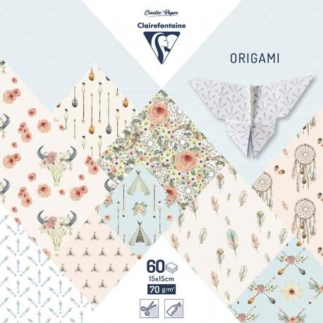 Origami papir 70g. Boheme 15x15cm, 60L.