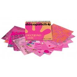 Decopatch blok papirjev Pink 12 motivov x 4, 48 kosov