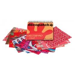 Decopatch blok papirjev Rdeča 12 motivov x 4, 48 kosov