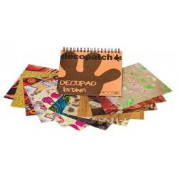 Decopatch blok papirjev Rjava 12 motivov x 4, 48 kosov
