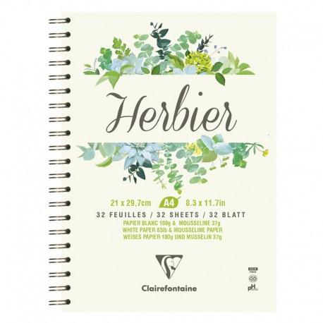 Špiralni blok za izdelavo Herbarija A4 180g. 32 listov