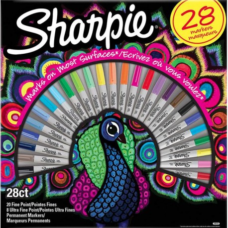 Sharpie permanentni marker Fine PAV set 28