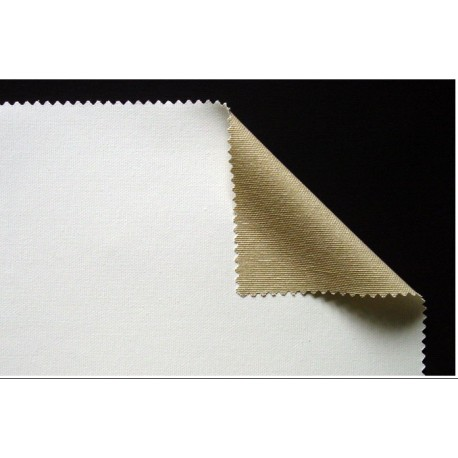 Metrsko platno grundirano 335g. 70% bombaž 30 Polyester višina 164cm