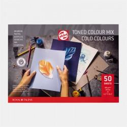 Toned mix blok Hladne barve A4 in A3 180g. 50 listov