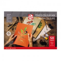 Toned mix blok Tople barve A4 in A3 180g. 50 listov