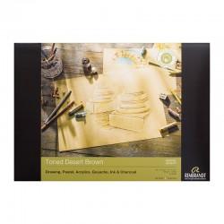 Rembrandt toniran papir blok A4 in A3 Desert Rjava 180g. 50 listov