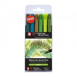 Koi Brush markerji Botanik set 6