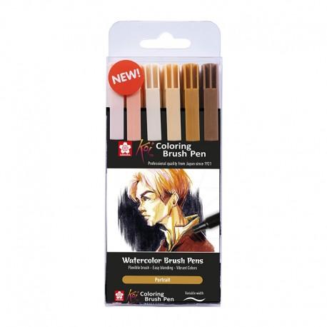 Koi Brush markerji Portret set 6