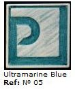 Podglazurna kreda 05 Azul ultramar-Ultramarin modra