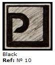 Podglazurna kreda 10 Negro-Črna
