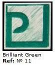 Podglazurna kreda 11 Verde Brillante-Briljantno zelena