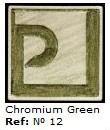 Podglazurna kreda 12 Verde Cromo-Krom zelena