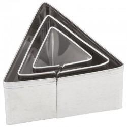 Kovinski modelčki Trikotniki 2-4cm, 3 kosi