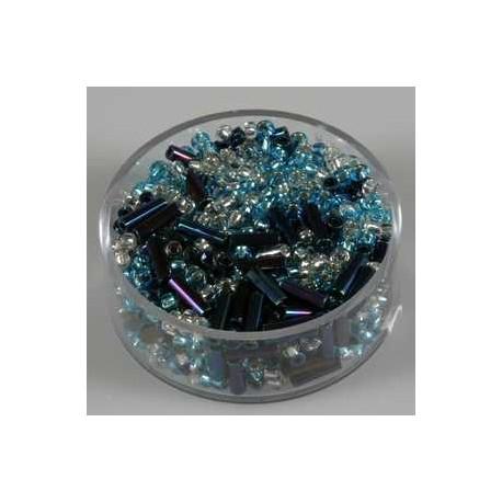 Mavrične-kristalne-sv. modre 17g. 2,6mm+palčke