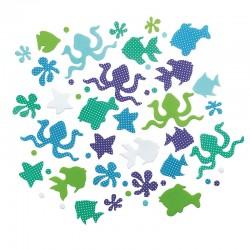 Lepljivi okraski iz penaste gume, Morske živali 243 kosov