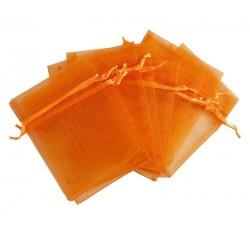 Organza vrečka 10 x 13cm Oranžna 12 kosov