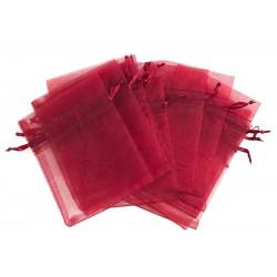 Organza vrečka 10 x 13cm Burgund rdeča 12 kosov