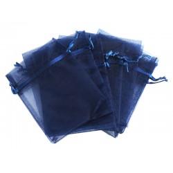 Organza vrečka Marin modra 10 x 13cm 12 kosov