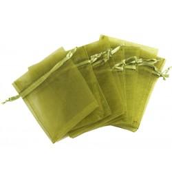 Organza vrečka Olivna 10 x 13cm 12 kosov