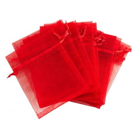 Organza vrečka Rdeča 10 x 13cm 12 kosov
