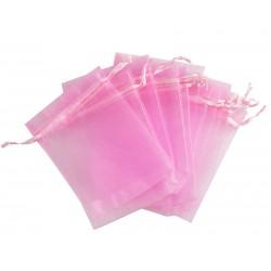 Organza vrečka Roza 10 x 13cm 12 kosov