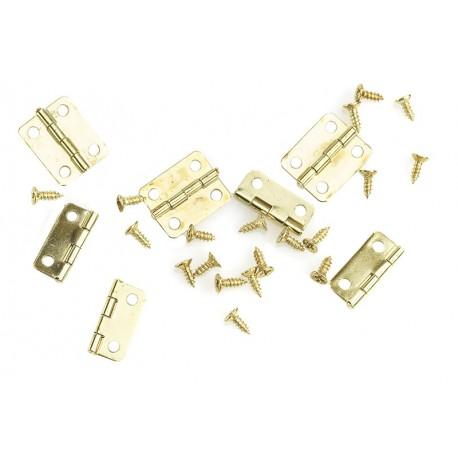Kovinske Spone (Panti) za škatle 16 x 14mm 10 kosov