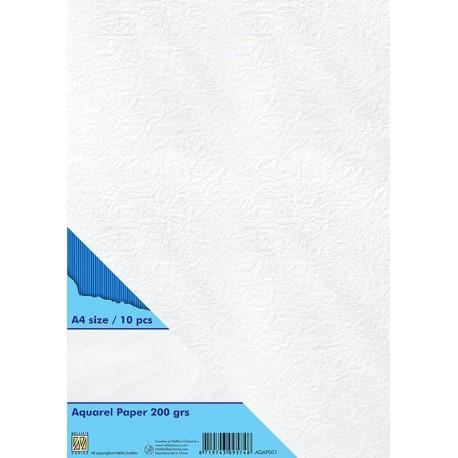 Papir za akvarel A4, 200g. 10 kosov
