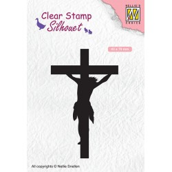 Nellies štampiljka 43 x 70mm Jezus na Križu