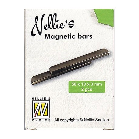 Magnetni ploščici 50 x 10 x 3mm, 2 kosa