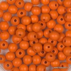 Lesene perle 4mm, Oranžne, 165 kosov